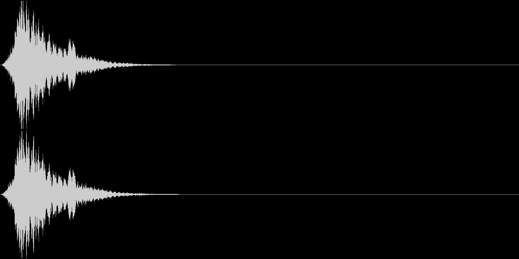 キーン(機械 ワープ 操作 SF風)の未再生の波形
