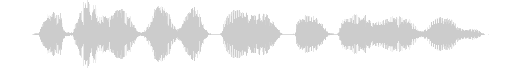 鳴き声 ゴブリン笑い02の未再生の波形