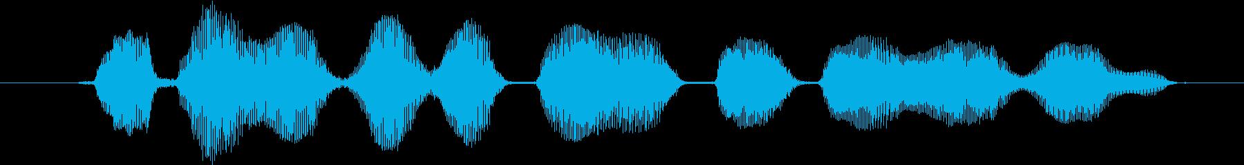 鳴き声 ゴブリン笑い02の再生済みの波形