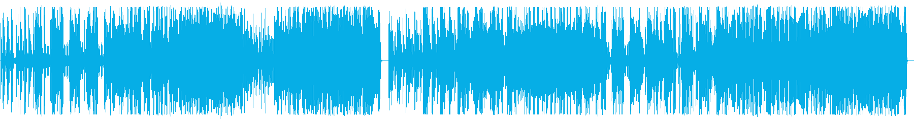 エレキベースとリズムのスパイ映画サウンドの再生済みの波形