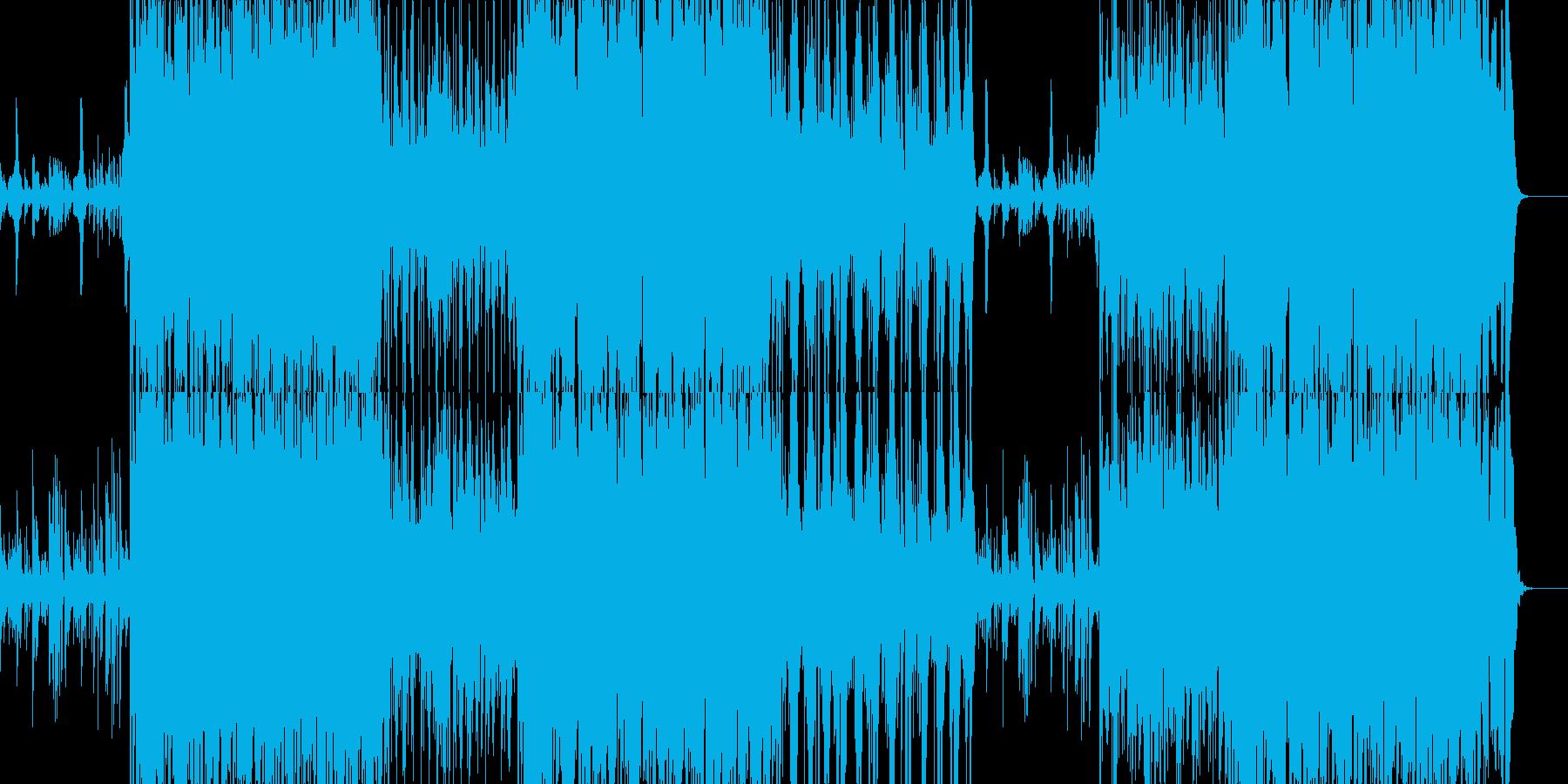 和:和楽器沢山の艶やか系楽曲の再生済みの波形