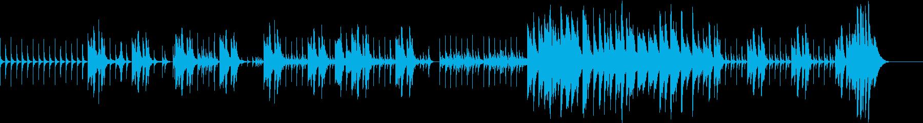 独特な緊迫感のあるBGMの再生済みの波形