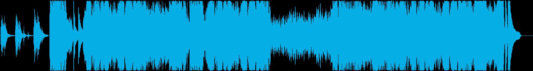 疾走感のあるクラシック系のピアノ曲の再生済みの波形