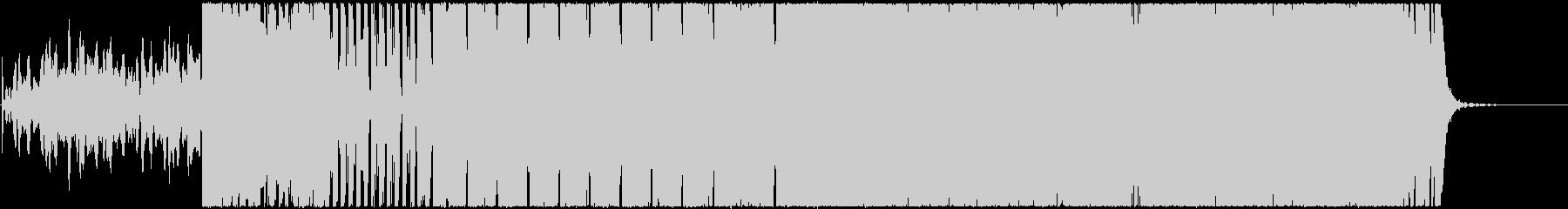 和テイストなデジタルロックの未再生の波形