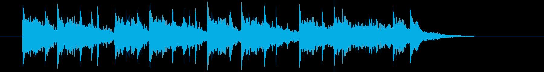 ポップなストリングスミュージックの再生済みの波形