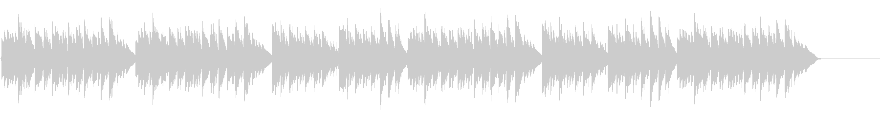 キラキラ星変奏曲(Var Ⅲ)オルゴールの未再生の波形
