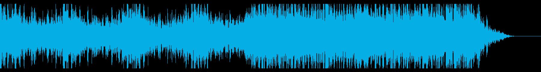 UFOが浮遊している音の再生済みの波形
