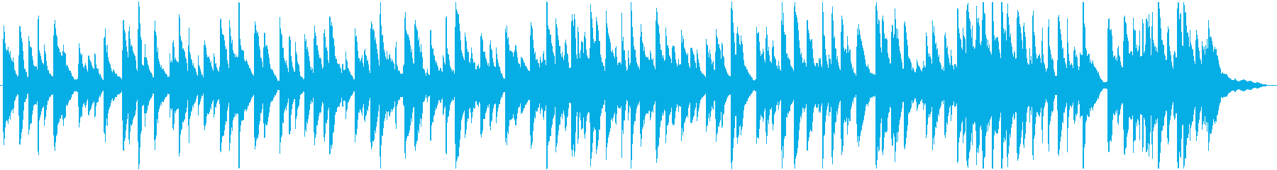 優しい日差しをイメージしたバラードBGMの再生済みの波形