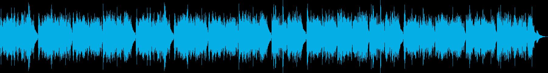 森林の中を表現したギターソロの再生済みの波形