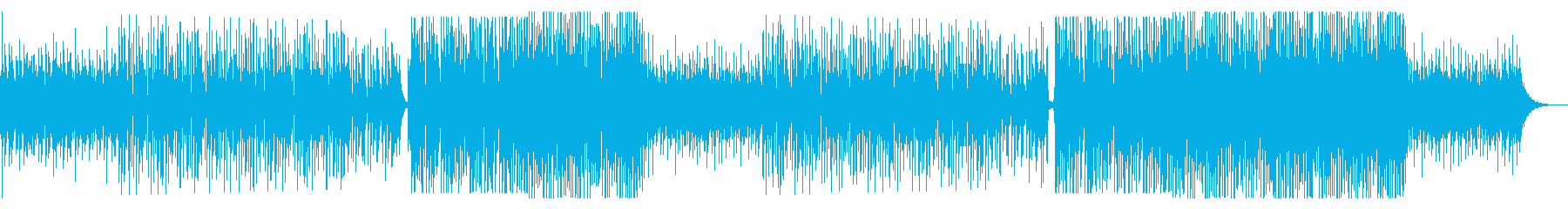 夏に最適!洋楽っぽいトロピカルハウスの再生済みの波形