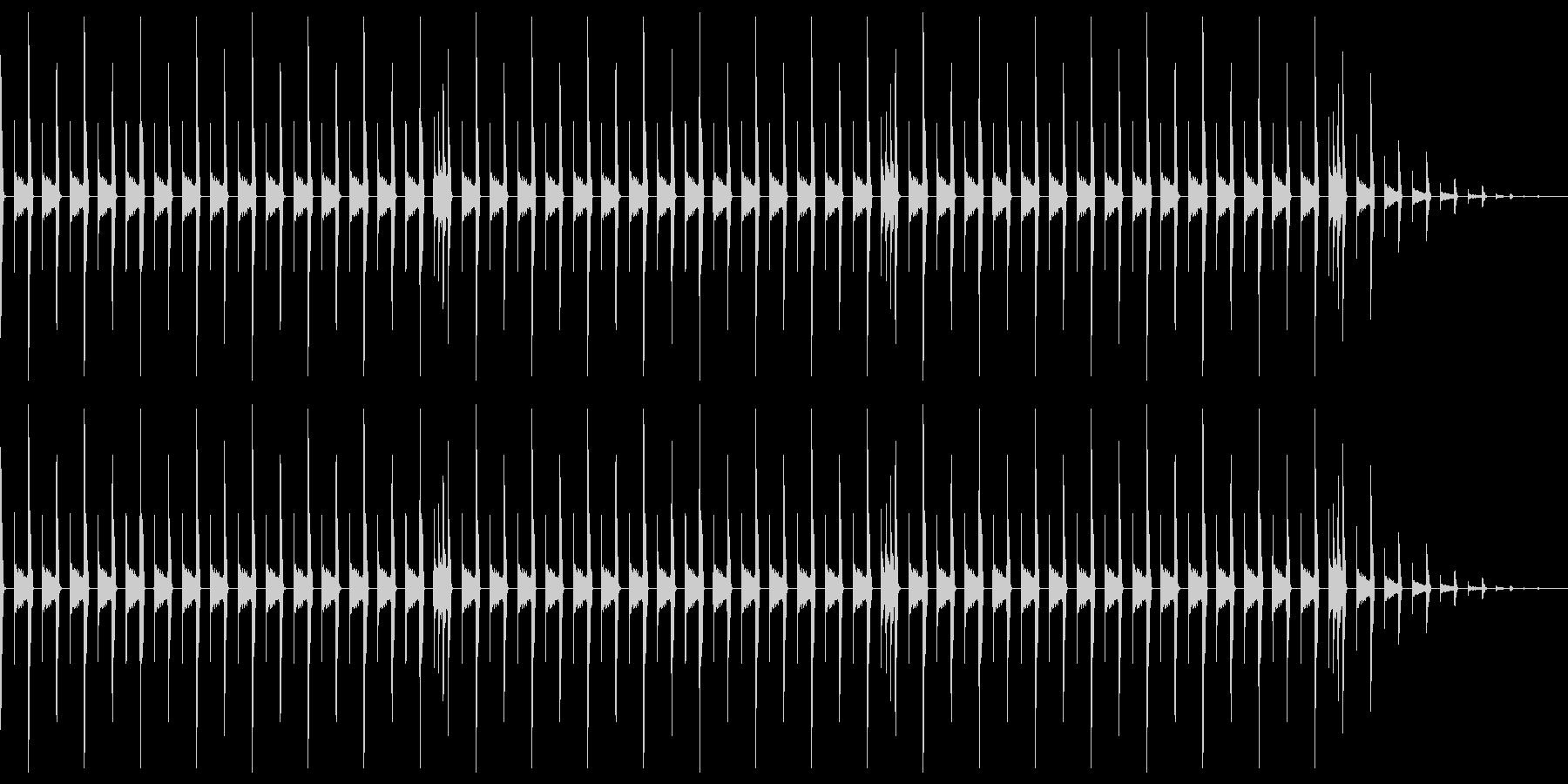昔のパソコン音源を使ったリズムループの未再生の波形