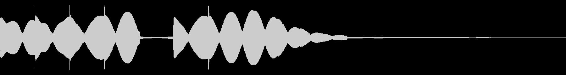 シンセでキラキラのシンプルファンファーレの未再生の波形