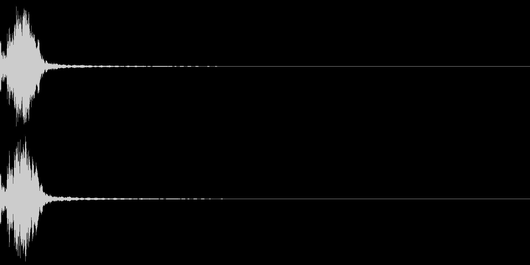 しっくりくるゲーム操作音02_決定の未再生の波形