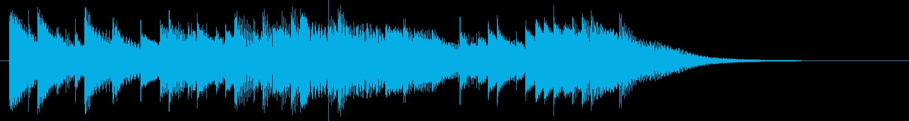 エモーショナルな電子音ジングルの再生済みの波形