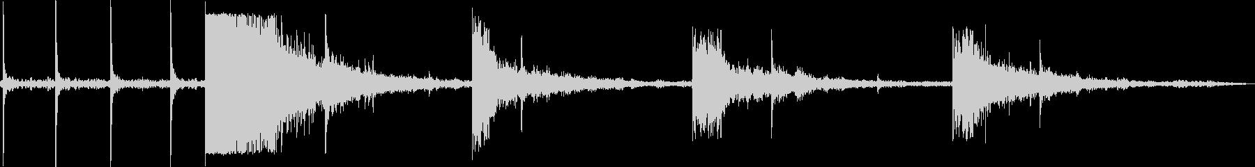サステインオフのドリルスイッチの未再生の波形