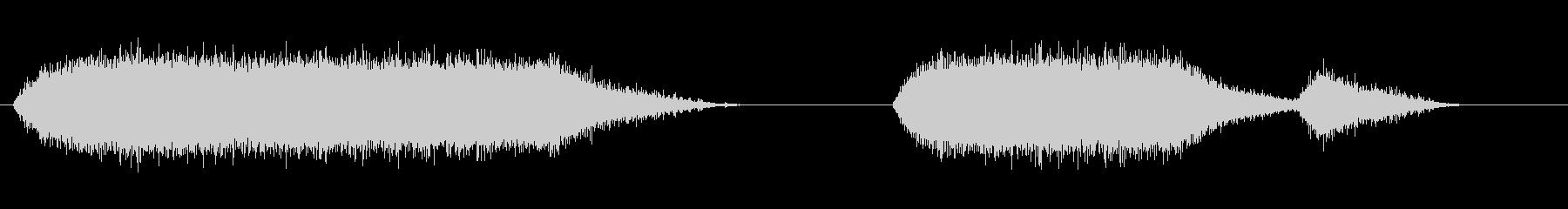 ジグソーアイドルランニングx2の未再生の波形