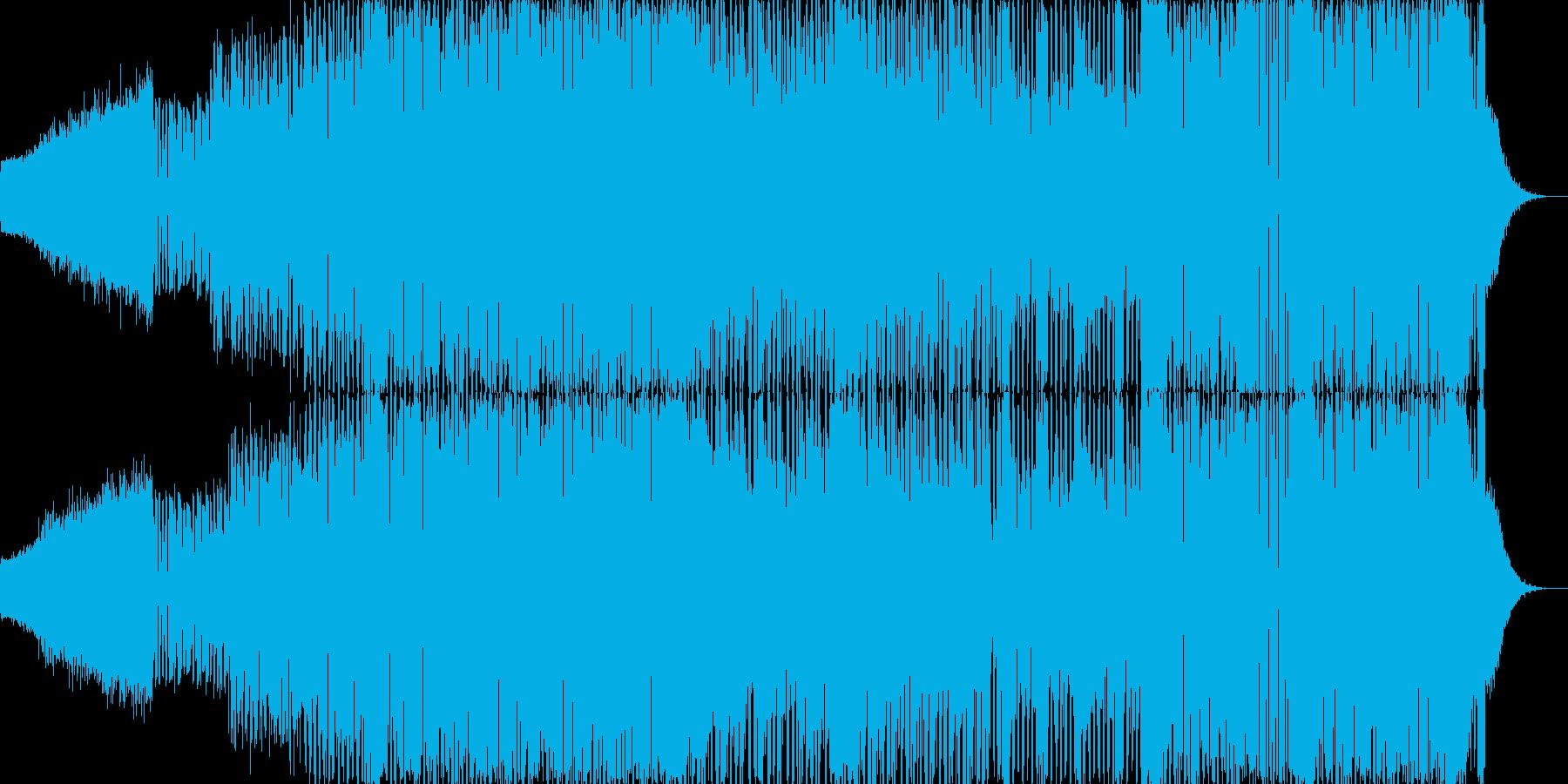タイトル同様、疾走感あふれる楽曲の再生済みの波形