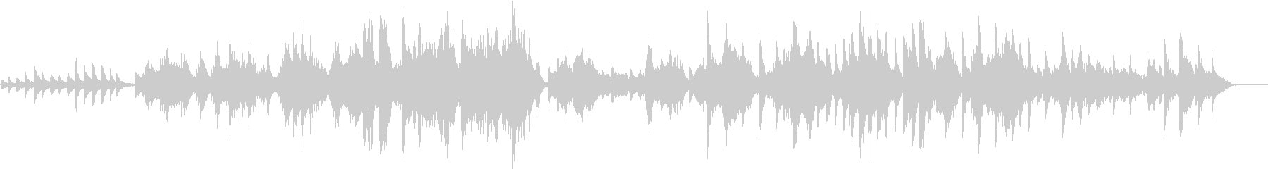 ピアノと弦楽器によるハーモニーの未再生の波形