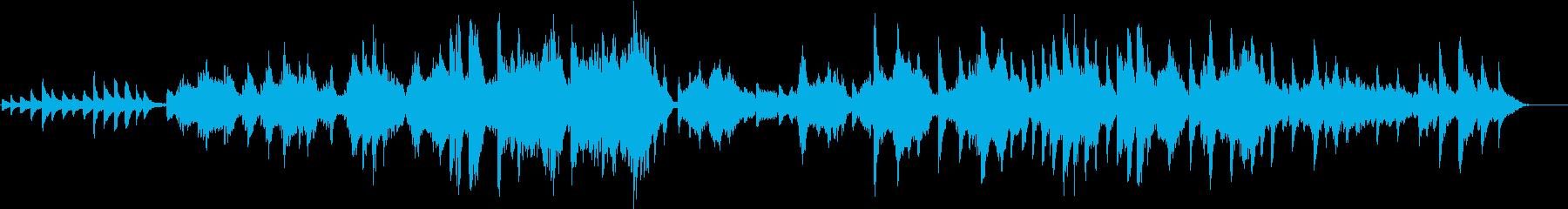 ピアノと弦楽器によるハーモニーの再生済みの波形