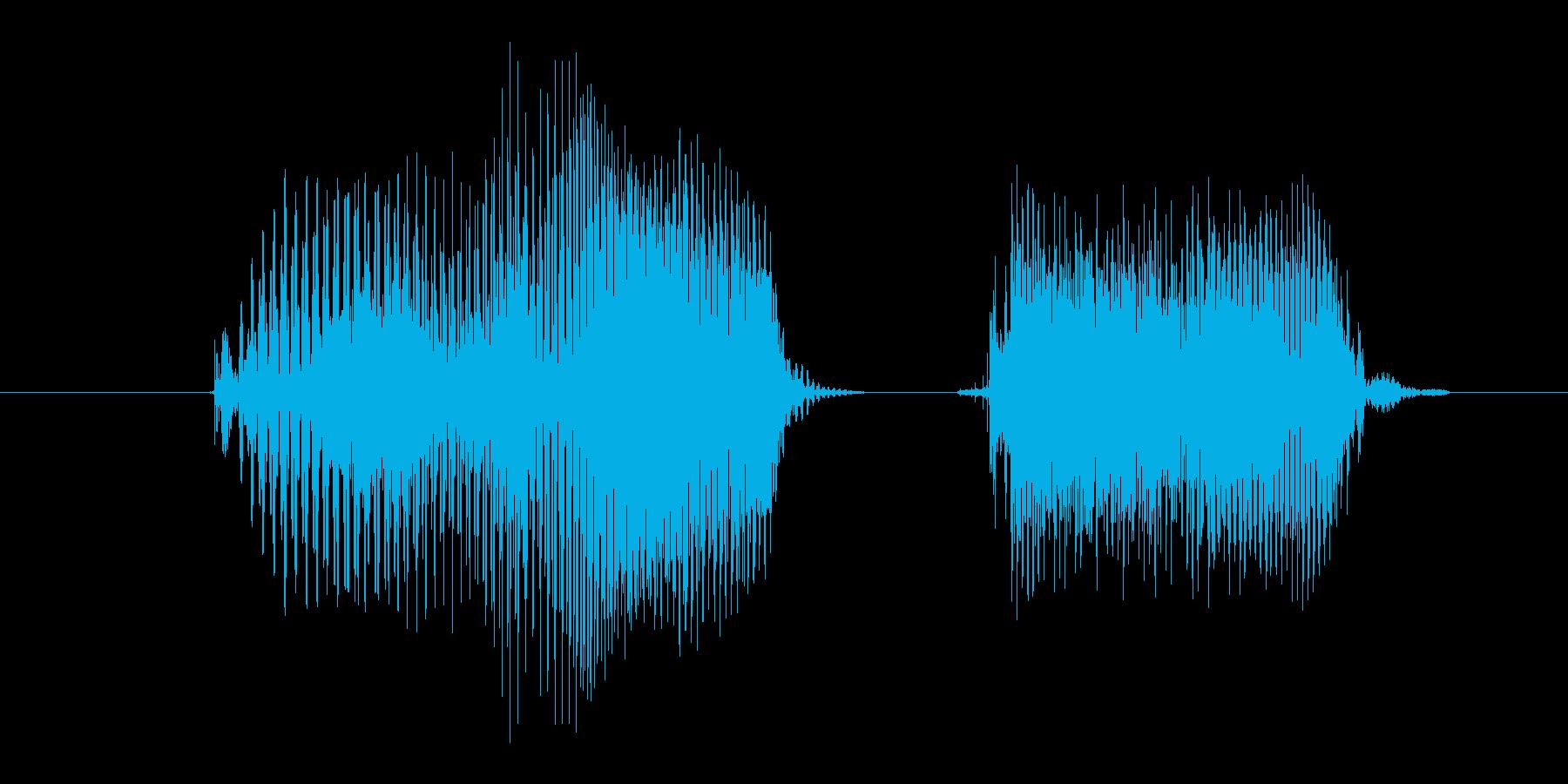 両手の再生済みの波形