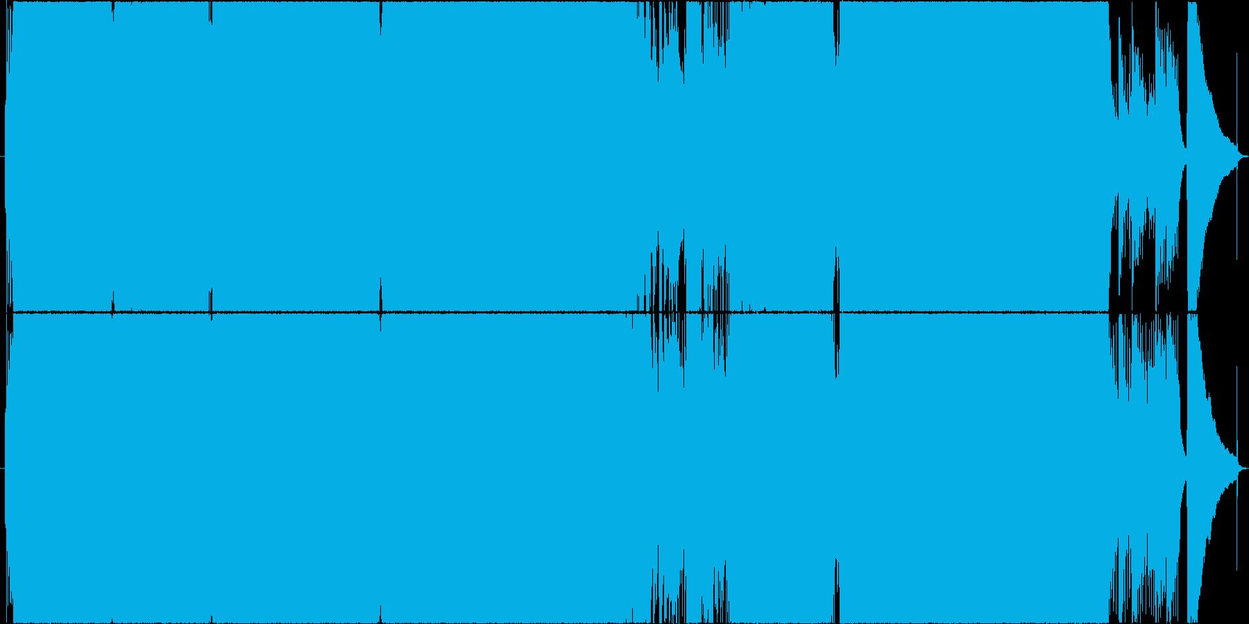 前半激しいインスト、後半にエモい歌の再生済みの波形