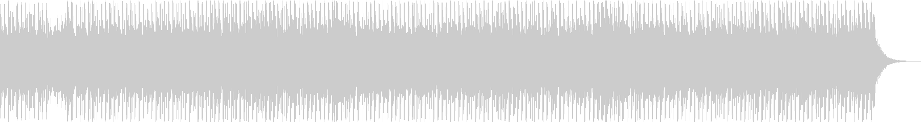 キラキラとした雰囲気のテクノポップの未再生の波形