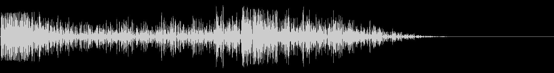カーソル移動音 カシャの未再生の波形