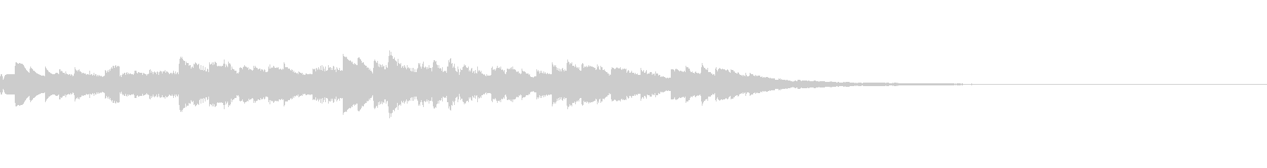 シンプルな着信音の未再生の波形