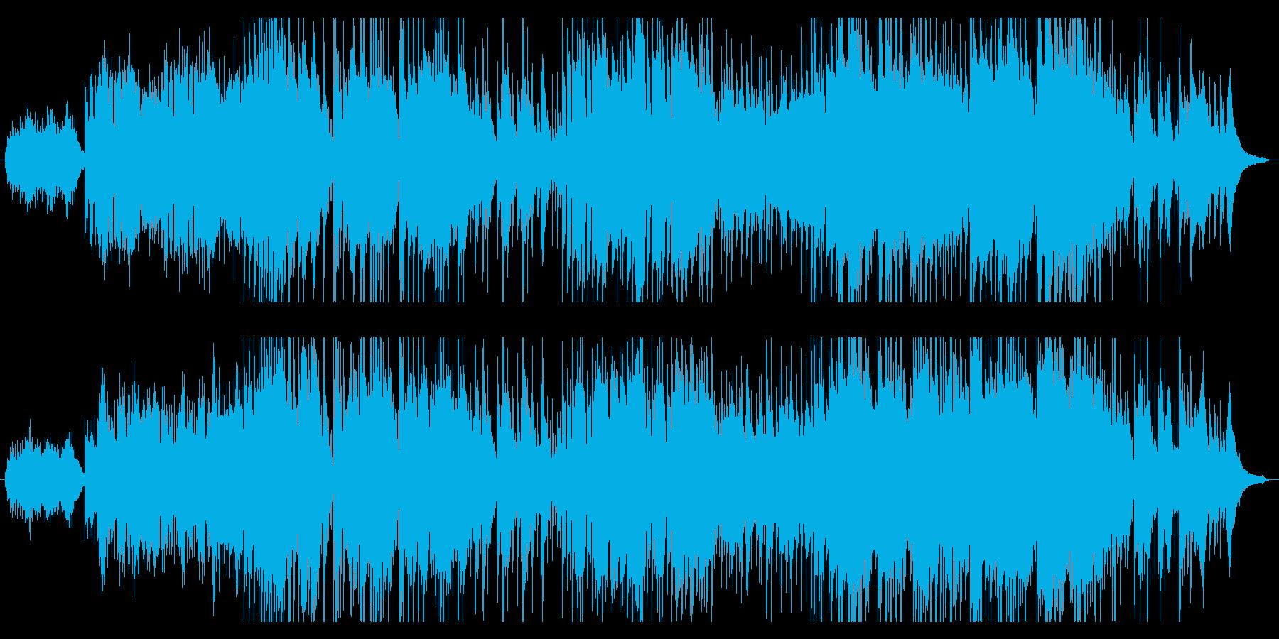 落ち着いた雰囲気のラウンジミュージックの再生済みの波形