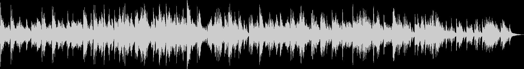 穏やかで優しい 響くヒーリング・ピアノの未再生の波形