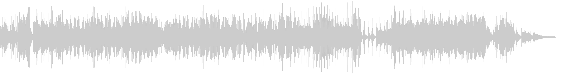 夏の癒し・ピアノと三味線の二重奏の未再生の波形