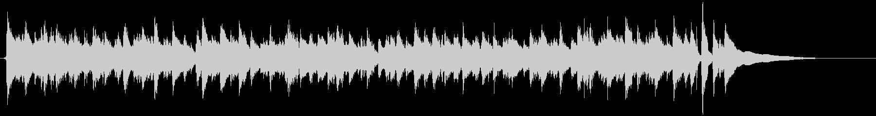 開放感のあるアコギのカッティング演奏の未再生の波形