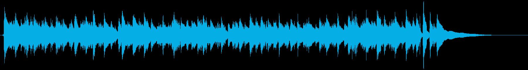 開放感のあるアコギのカッティング演奏の再生済みの波形