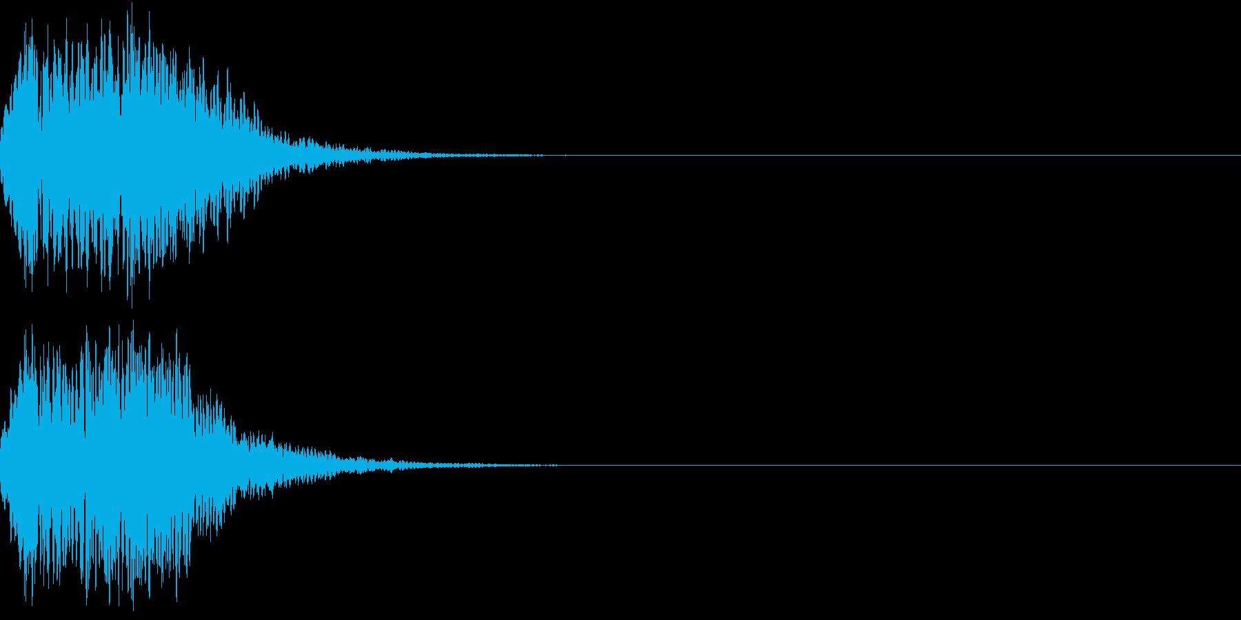 キュイン 光 ピカーン フラッシュ 11の再生済みの波形