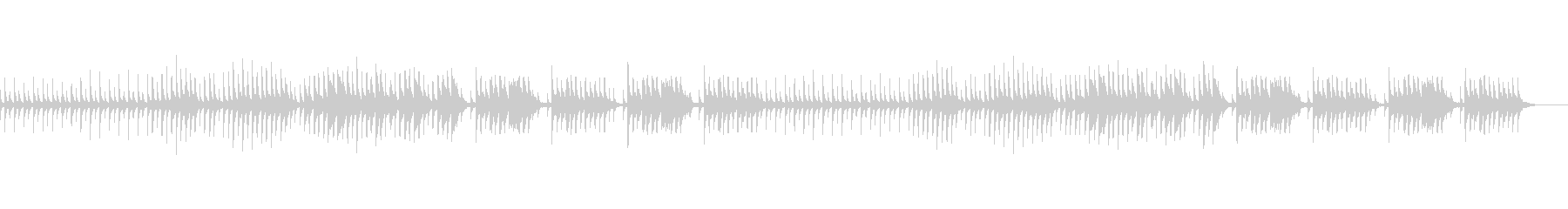 日常生活のBGMの未再生の波形