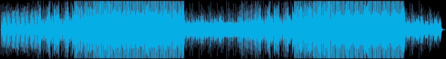 ヒマワリをイメージした明るく優しい楽曲の再生済みの波形