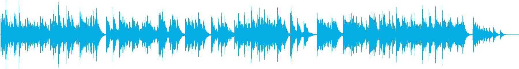 かわいい音色の温もりあるオルゴールの再生済みの波形