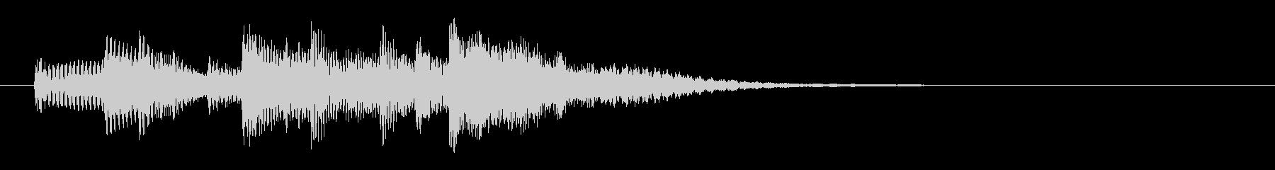 和やかエレクトリックピアノのサウンドロゴの未再生の波形