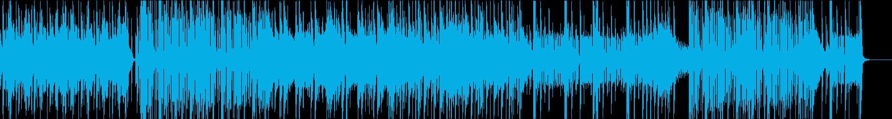 オシャレなエレクトロニックなファンクの再生済みの波形