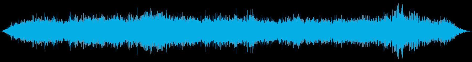 サイクルの周囲のきらめき効果を伴う...の再生済みの波形