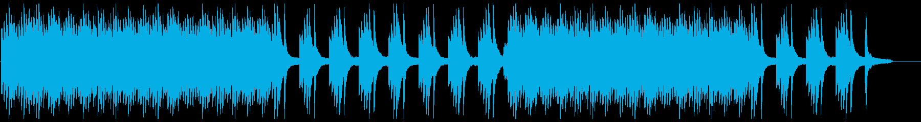 ピアノとシンセのイージーリスニングの再生済みの波形
