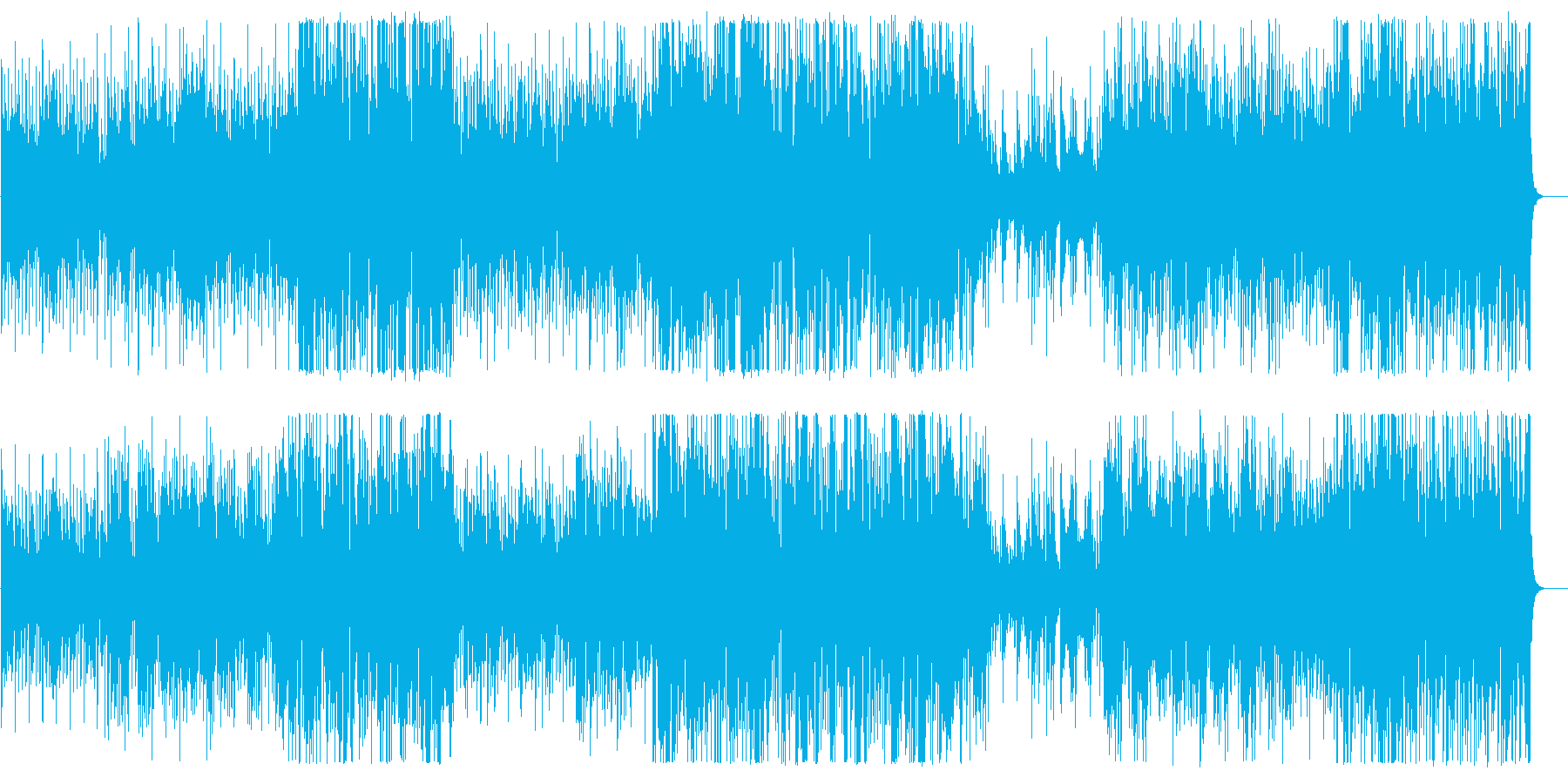 アップテンポのボサノバジャズハウスの再生済みの波形