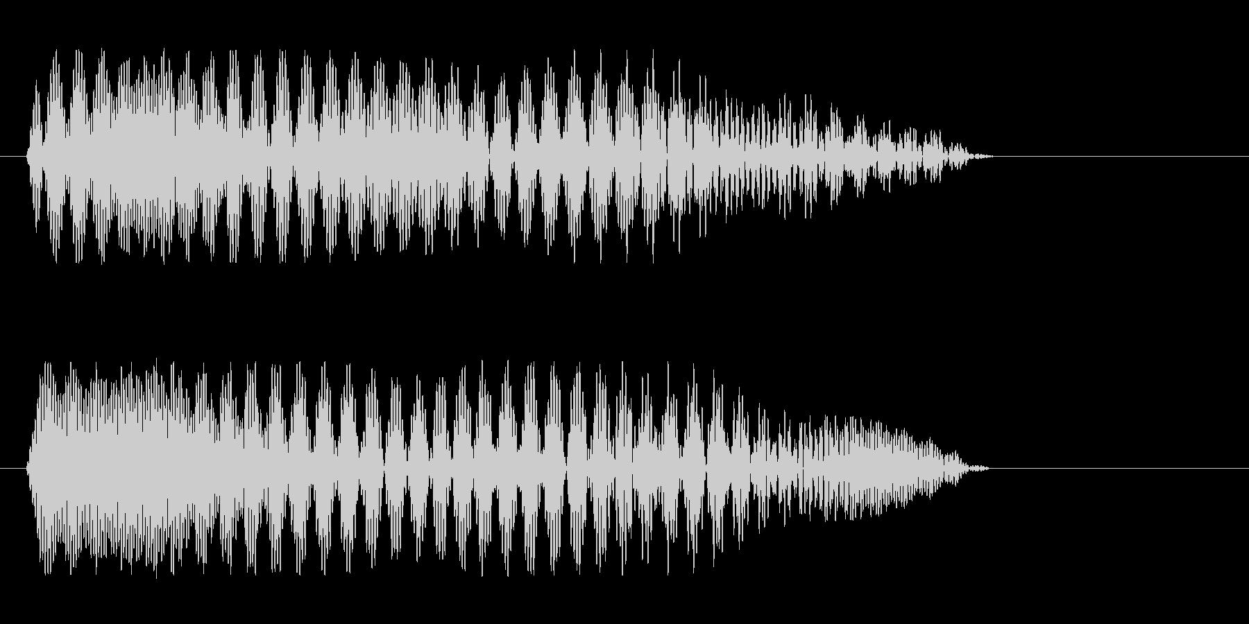 「プーワ」と女性が喋っている音の未再生の波形