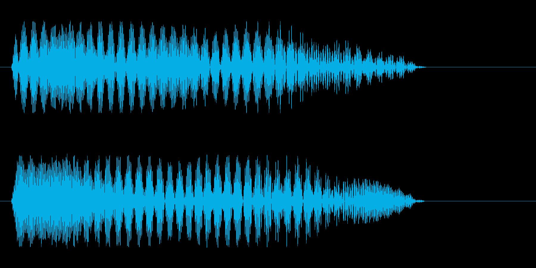 「プーワ」と女性が喋っている音の再生済みの波形