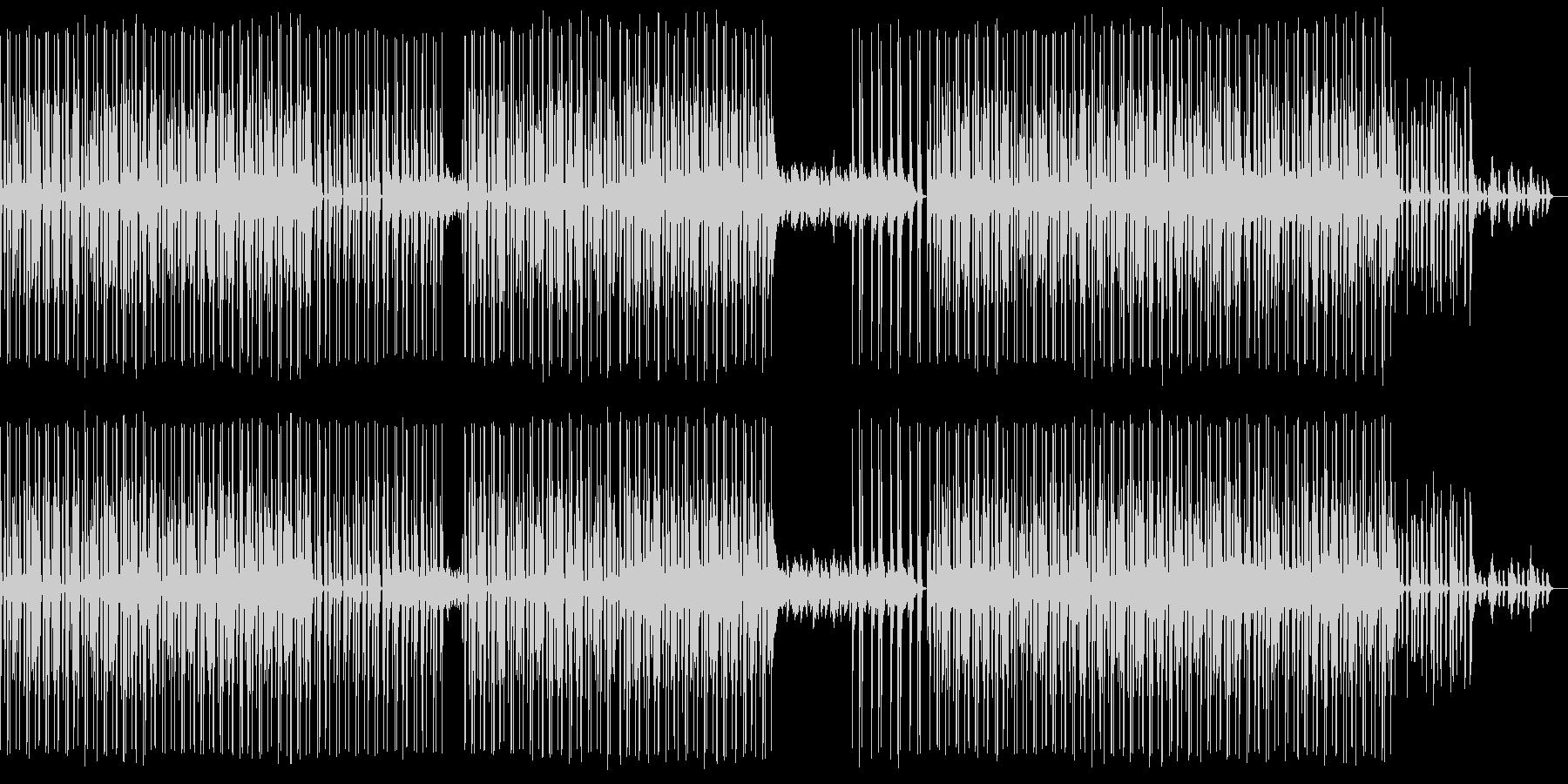 シュールでダンサブルなハウスミュージックの未再生の波形
