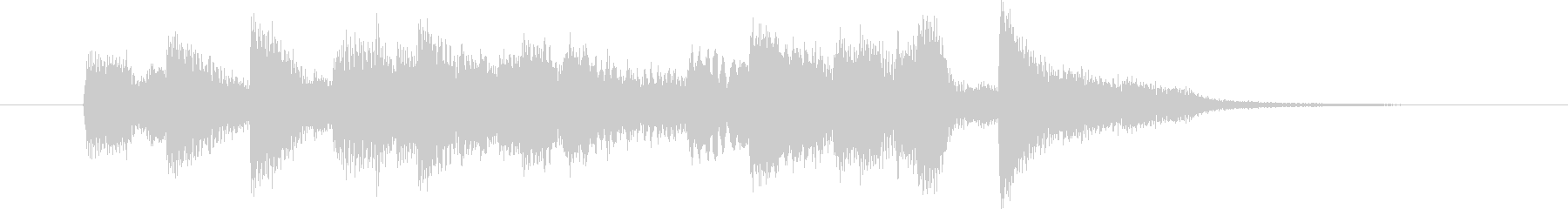 激しいフレーズのピアノソロの未再生の波形