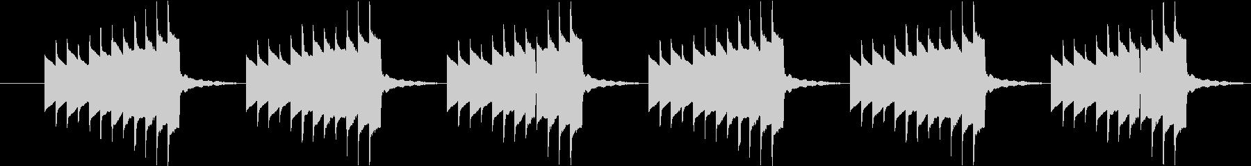 昔の携帯電話着信音風の未再生の波形