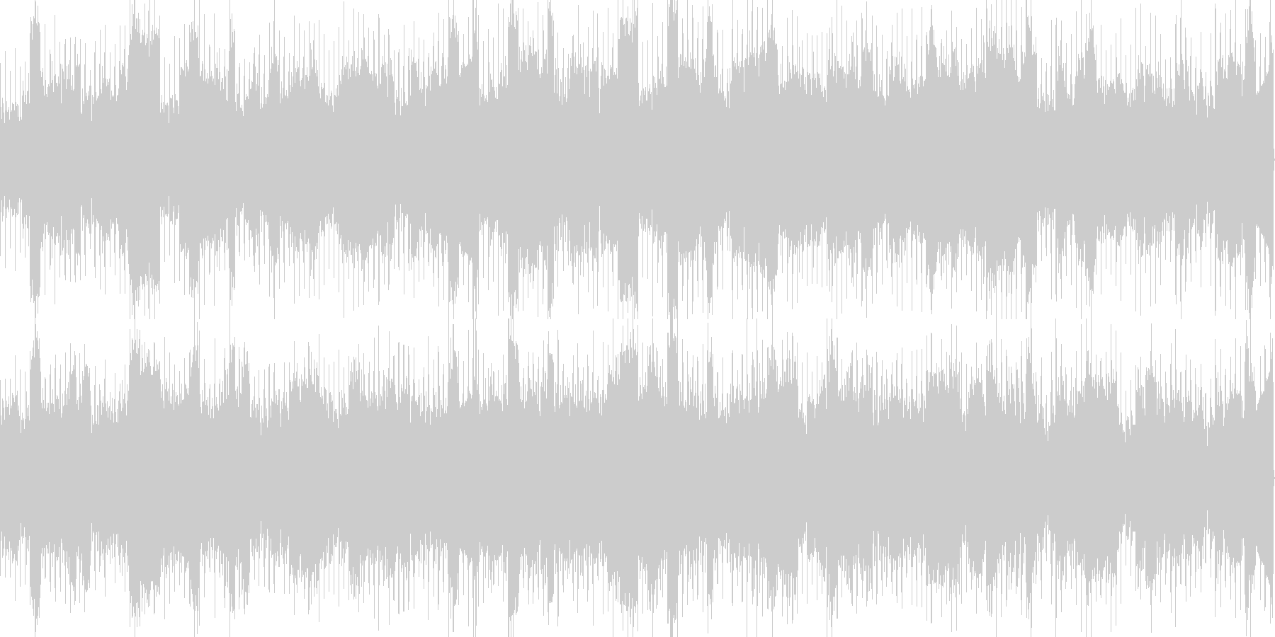 浮遊感のあるエレクトロ系BGMの未再生の波形