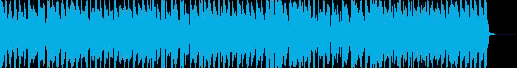 アコーディオン主体のほのぼの曲の再生済みの波形
