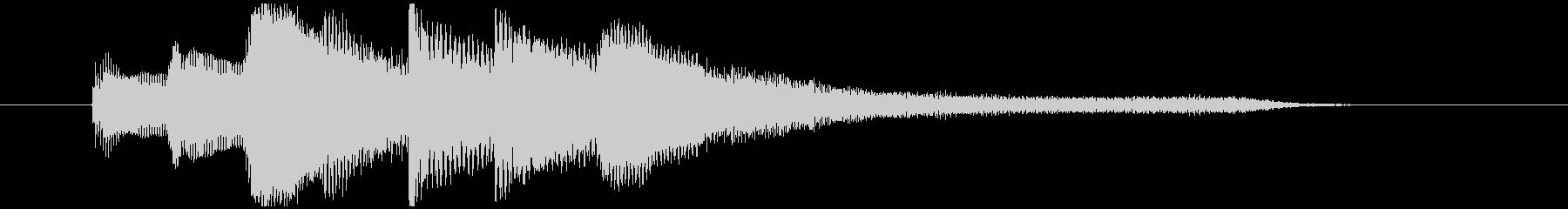 ピアノで上品なサウンドロゴ・ジングルの未再生の波形